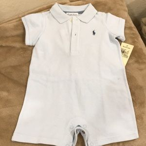 NEW Ralph Lauren boys one piece outfit. Size 9M